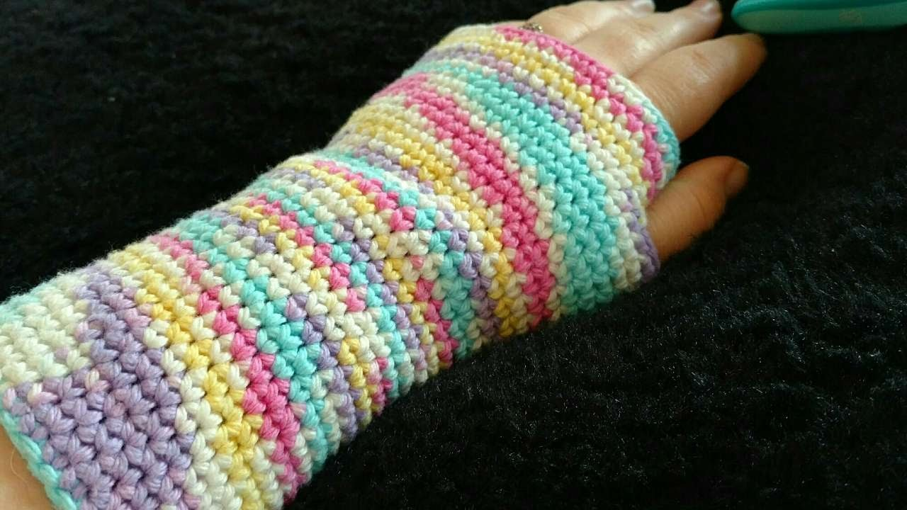 How To Rainbow Crochet Fingerless Gloves - DIY Crafts Tutorial - Guidecentral