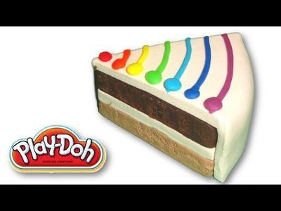 Making of Play Doh Rainbow Bar Cake