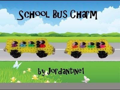 New School Bus Charm - Alpha. Rainbow Loom - Great Teacher. Bus Driver Gift