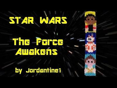 New Star Wars The Force Awakens Bracelet - Rainbow. Alpha Loom - Finn, BB8, Rey