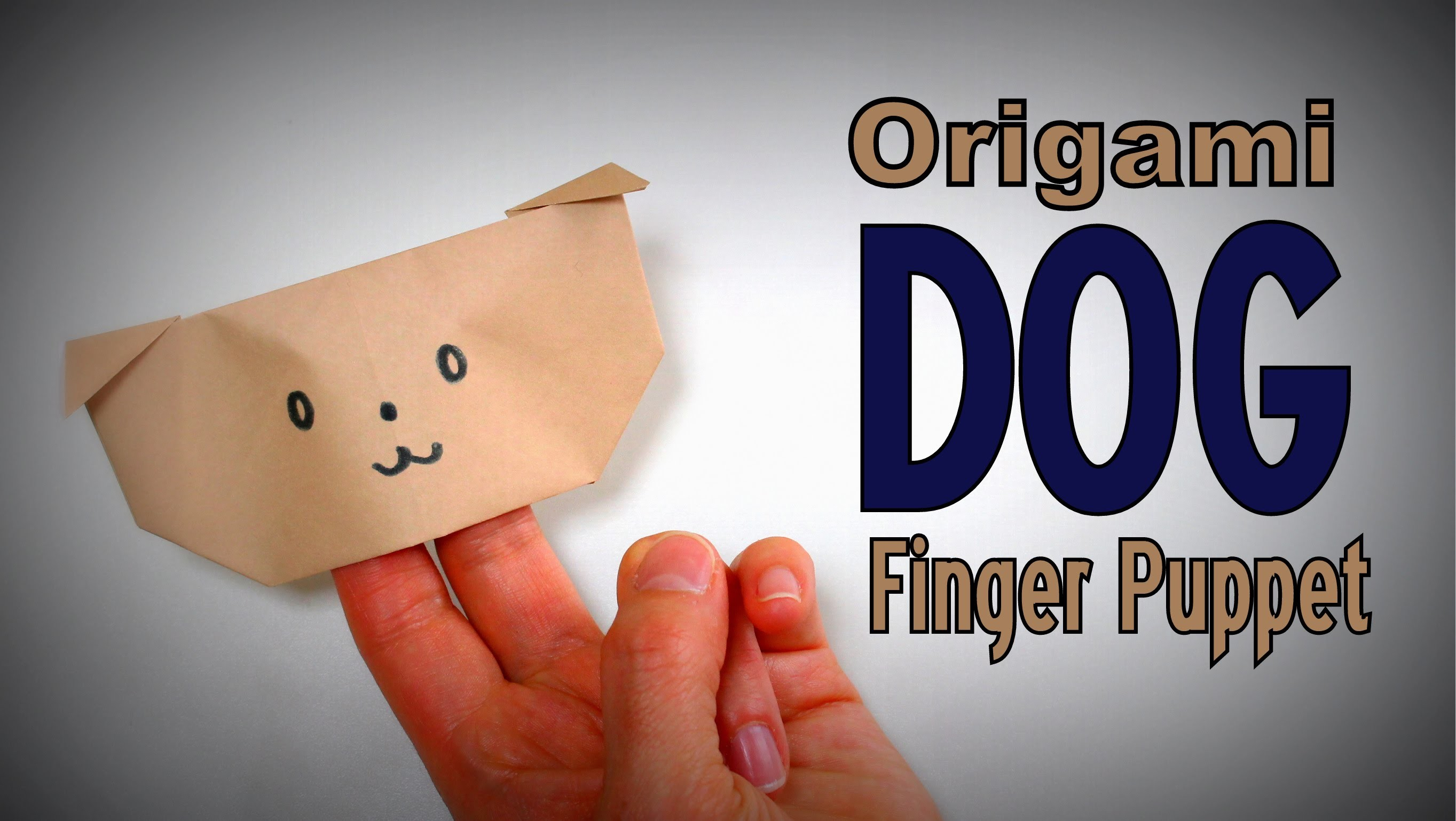Origami - How to make a DOG (Hand Puppet)