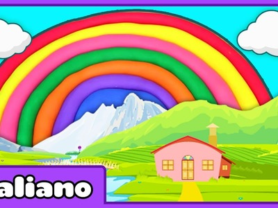 Play Doh Rainbow | Arcobaleno di Didò | Popular Play doh Creations by HooplaKidz Italiano