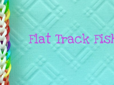 Rainbow Loom Bands a Flat Track Fish two peg tutorial