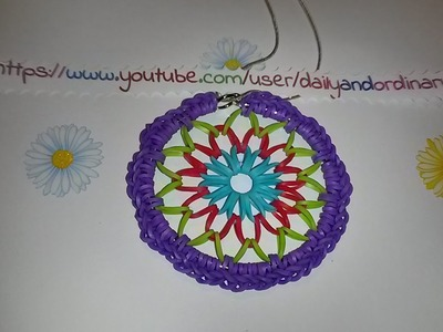 Rainbow Loom Dreamcatcher ~SILENT TUTORIAL~