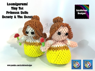 Rainbow Loom Loomigurumi Belle Tiny Tot Princess from Beauty & The Beast  w. Rainbow Loom Bands