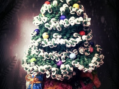 Rainbow loom Snowy Christmas Tree Part 1