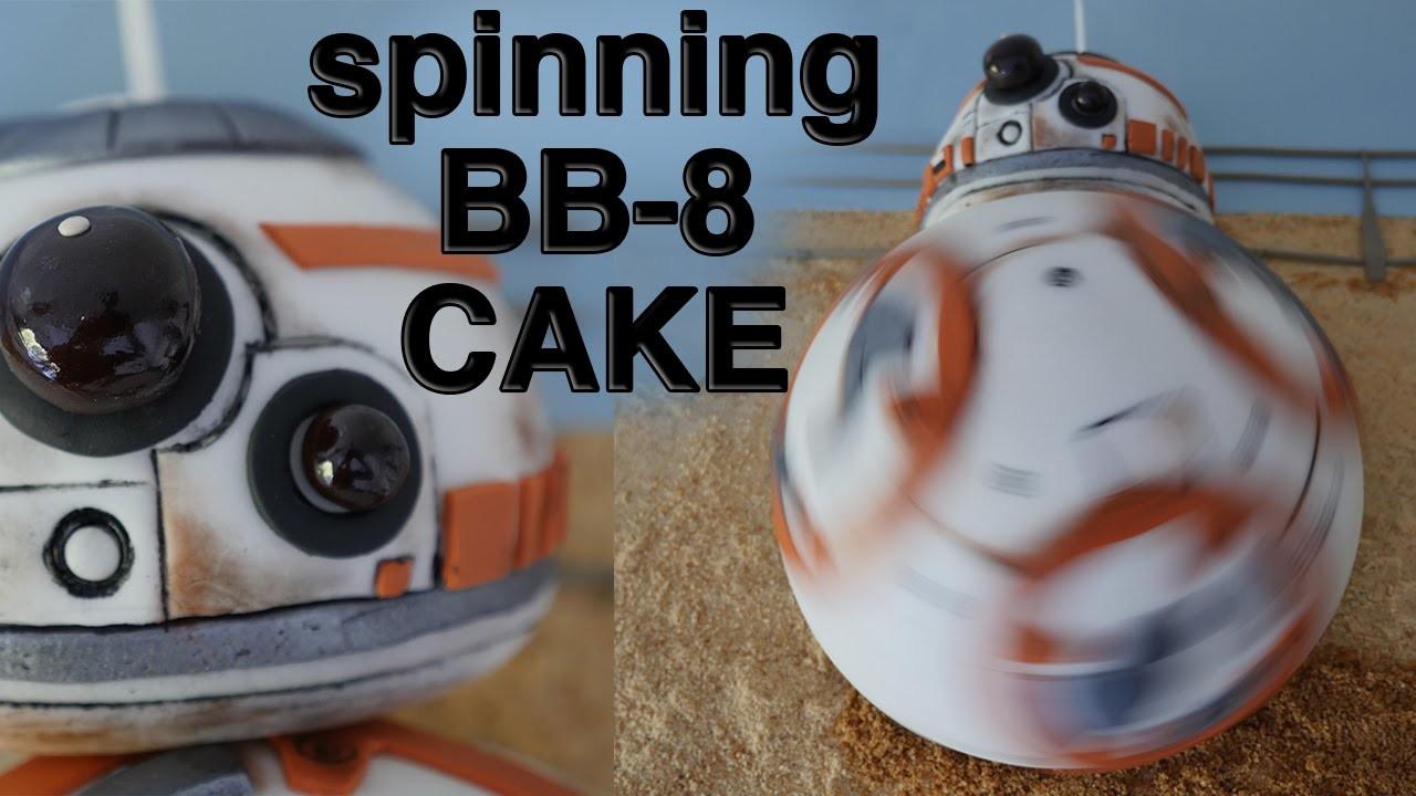 SPINNING BB8 CAKE STAR WARS 7 How To Cook That Ann Reardon epic BB 8 cake
