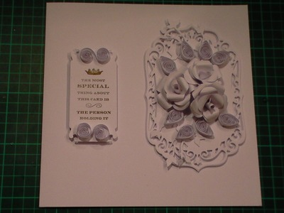 70. Cardmaking Tutorial - How to make a Simple White Roses Card