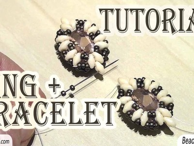 BeadsFriends: bead tutorial - How to make a ring - How to make a bracelet