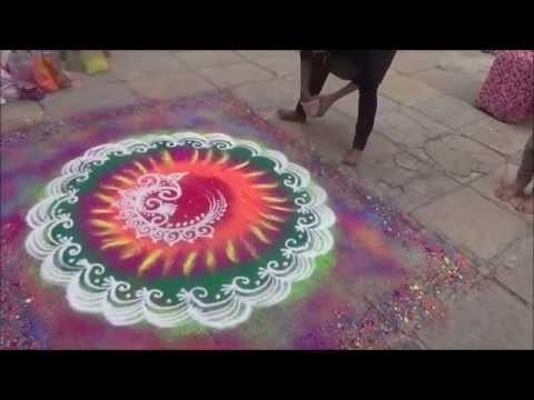 Best Rangoli Learn how to draw Diwali Rangoli Easy beautiful rangoli