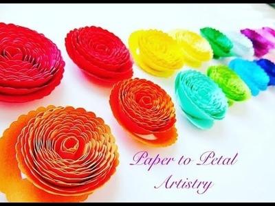 DIY Paper flower Rosettes