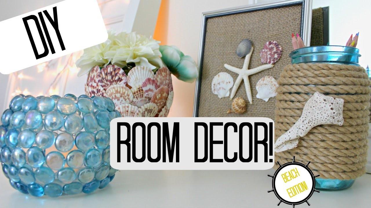 DIY ROOM DECOR IDEAS- BEACH THEME -Pinterest Inspired & Cheap!