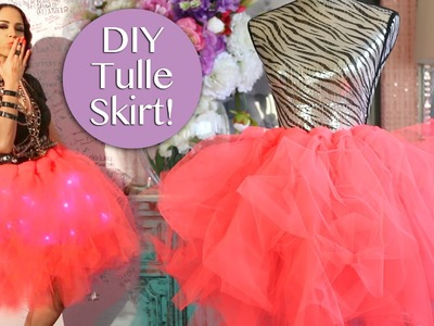 DIY Tulle Skirt No Sew ! Easy DIY Tulle Skirt