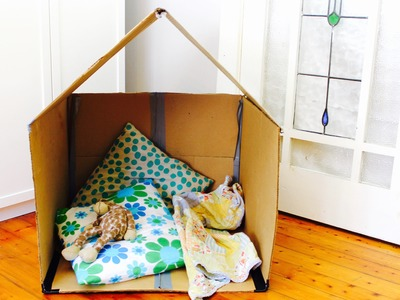 Easy cubby idea: How to make a collapsible cardboard cubby