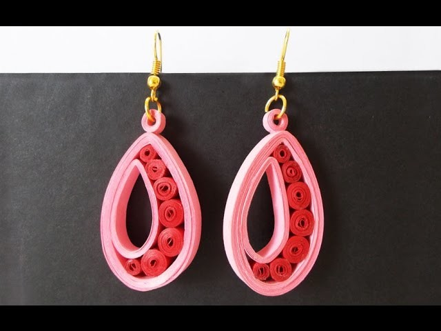 Easy Quilled Earrings Tutorial : Paper Earrings for Girls | Handmade Jewelery