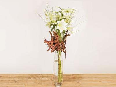 Elegant Rustic Lily Design | Flower Factor How To | Flower Arrangement
