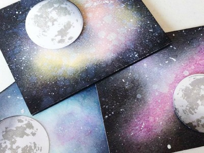 How to Create a Galaxy Background | Distress Ink Blending | TheCraftBunny