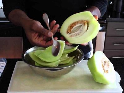 How to cut a honeydew melon