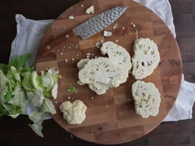 How to cut cauliflower steaks