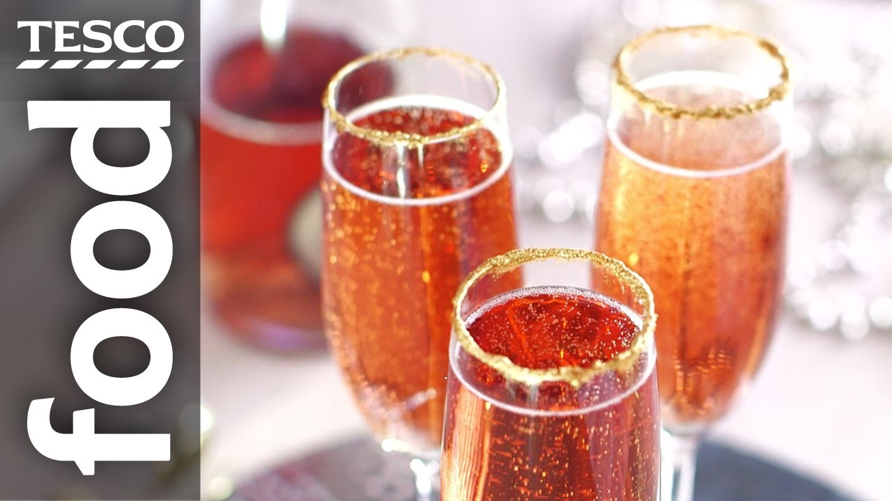 How to Decorate Glasses with Edible Glitter | Tesco Food