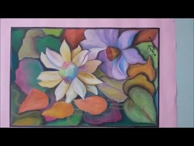 HOW TO DO OIL PASTEL PICTURE