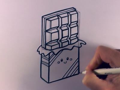 How to Draw a Cartoon Chocolate Bar