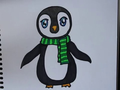 How to Draw a Cute Penguin with Sharpies