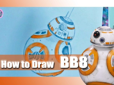 How to Draw BB8 from STAR WARS The Force Awakens - @dramaticparrot