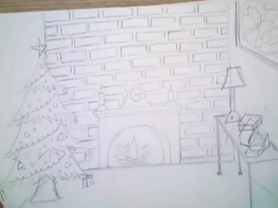 How to draw easy christmas drawing for kids