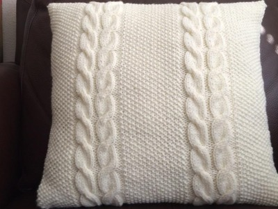 How To Knit A Cable And Seed Stitch Pillow, Lilu's Knitting Corner Video # 59
