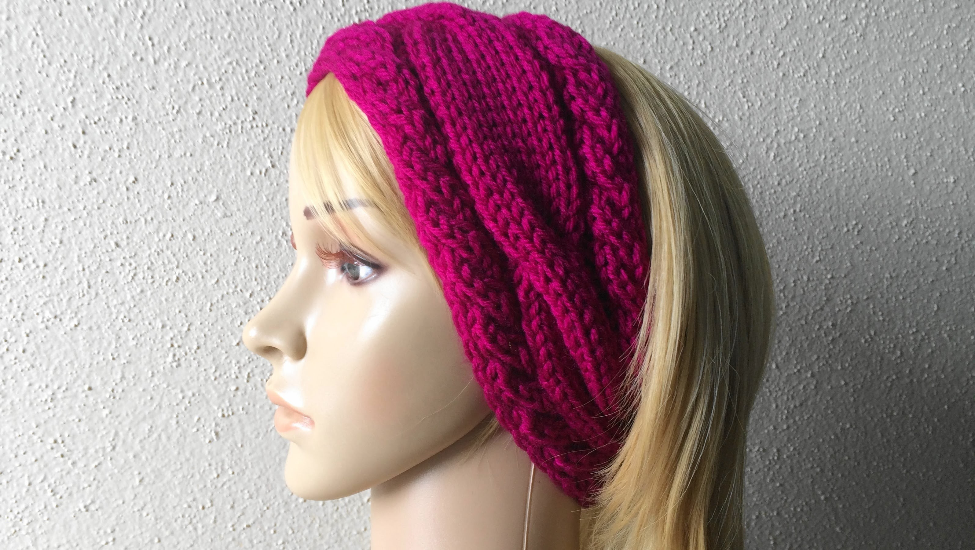 How To Knit A Cable Headband, Lilu's Knitting Corner Video # 40
