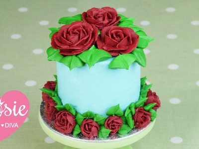 How to make a Buttercream Rose Mini-Cake