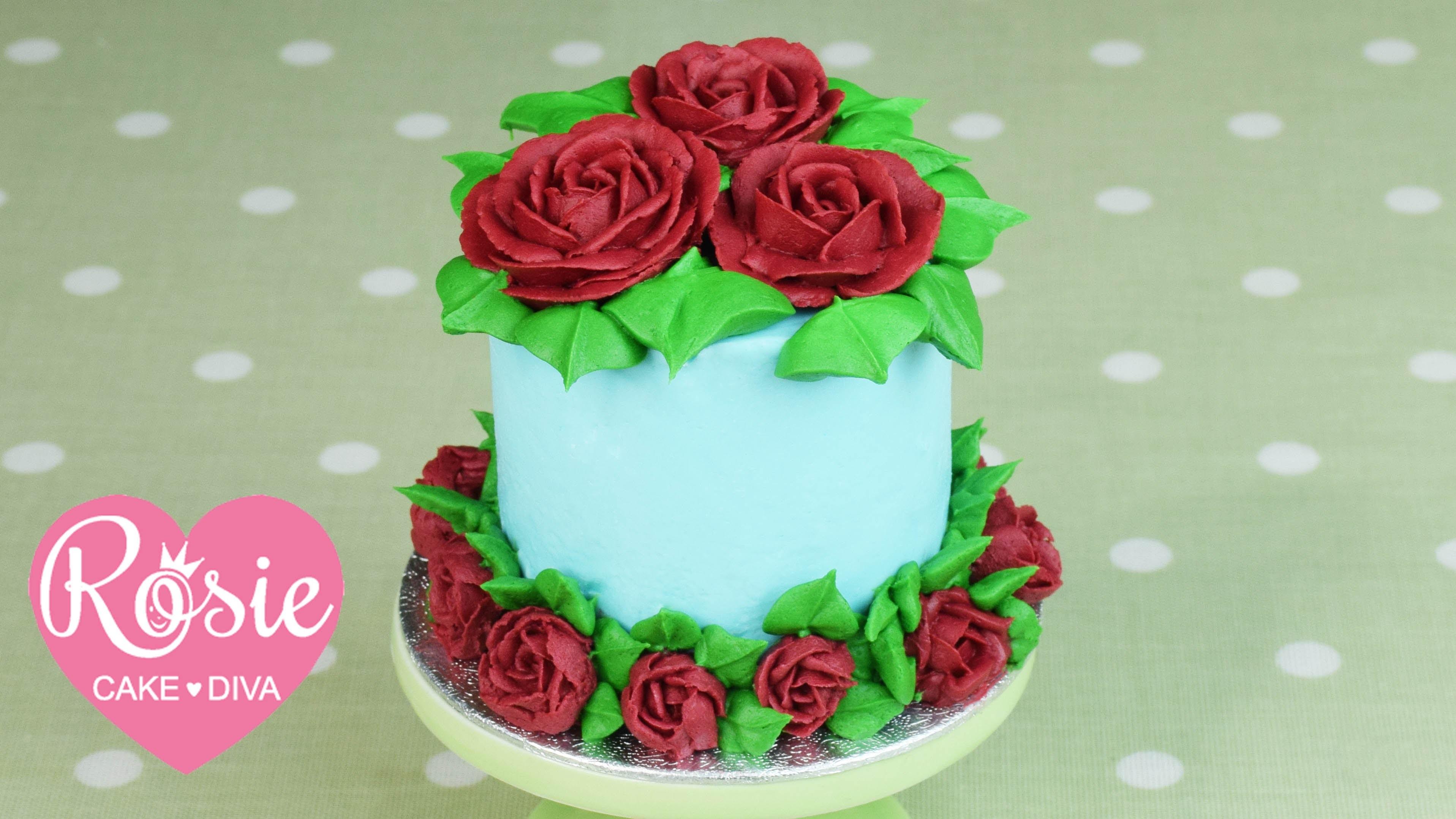 How to make a Buttercream Rose Mini-Cake