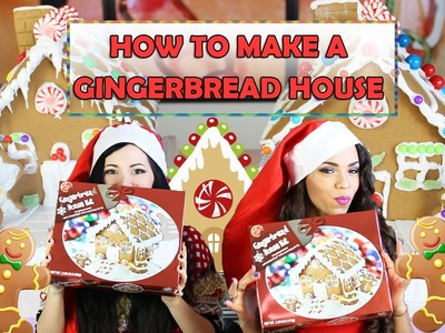 HOW TO MAKE A GINGERBREAD HOUSE ❤ with SPANKIEVALENTINETV