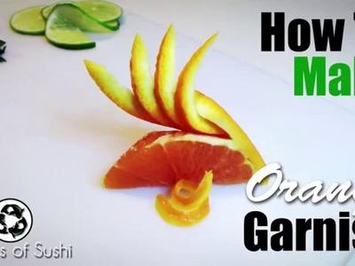 How to Make a Orange Garnish   The Orange Fan