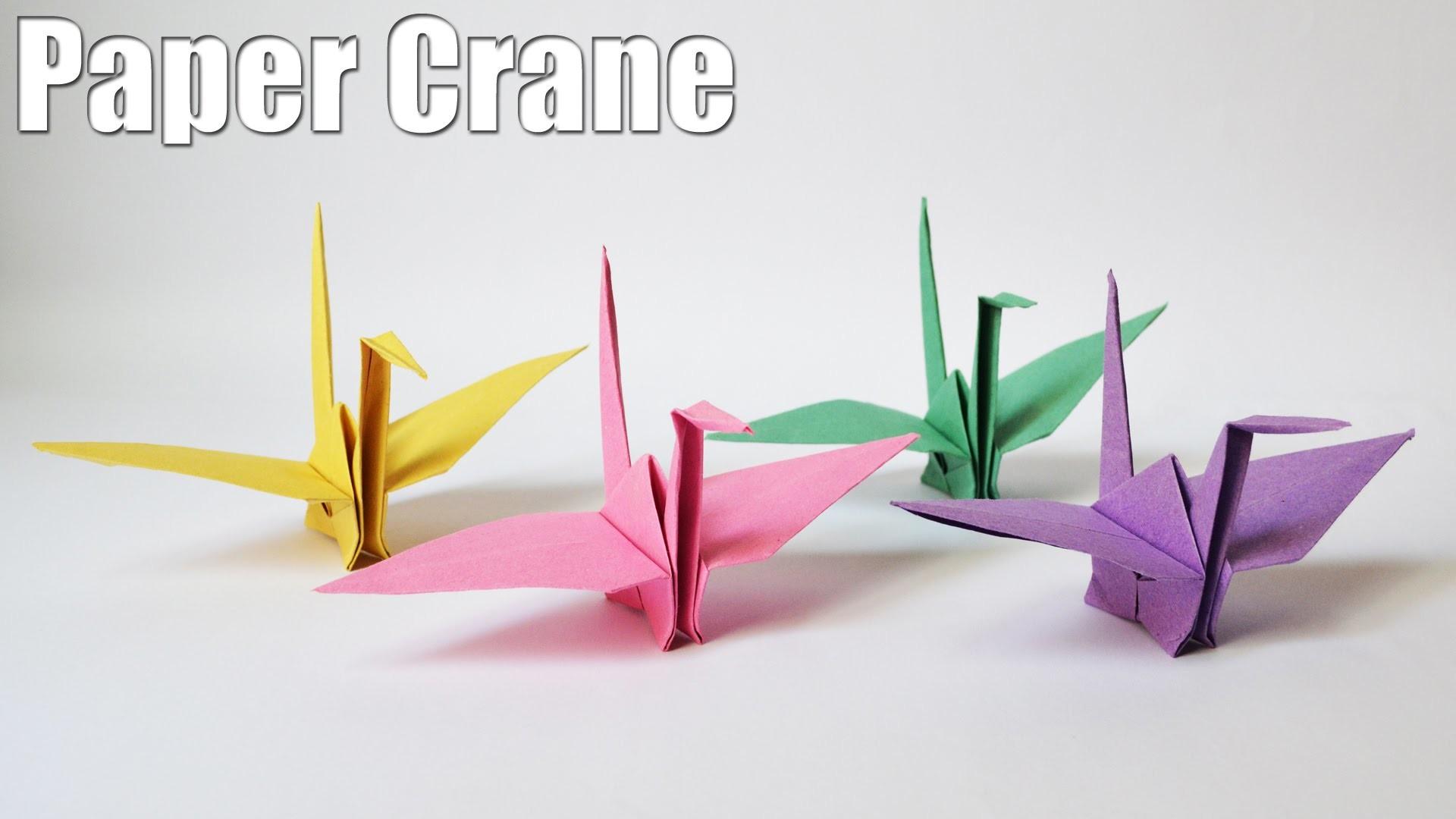 How to make a Paper Crane | Easy | Tutorial