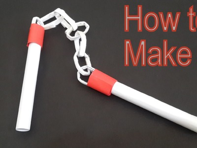 How to make a paper Nunchakus - Easy