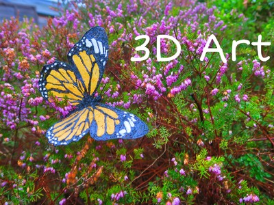 How to make a realistic 3D butterfly (Scribbler V1, 3D pen)