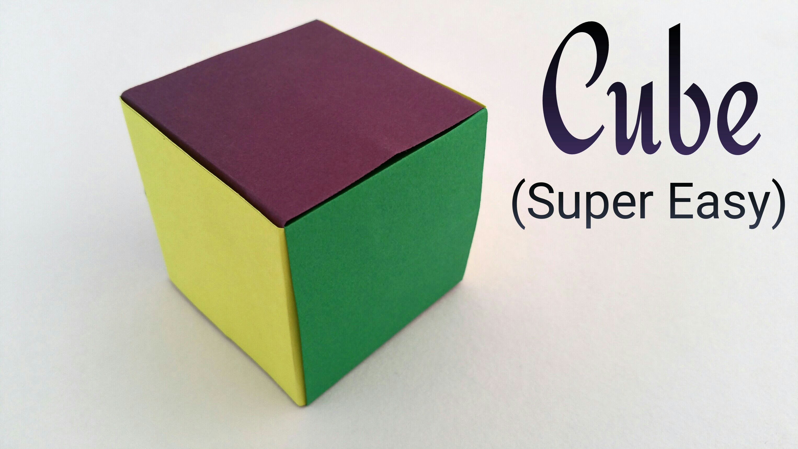 paper cube This printable paper rubik's cube looks exactly like the real thing, all scrambled up, but it is a box it is also a puzzle, which you can solve just like the original rubik's cube — only it's a whole lot easier.