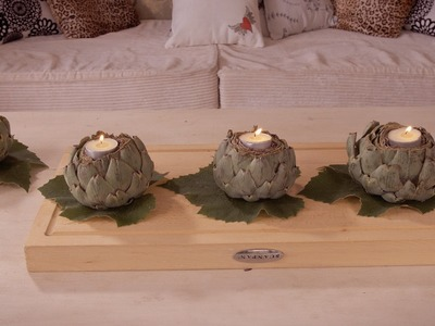 How to Make Artichoke Bulb Candle Holders