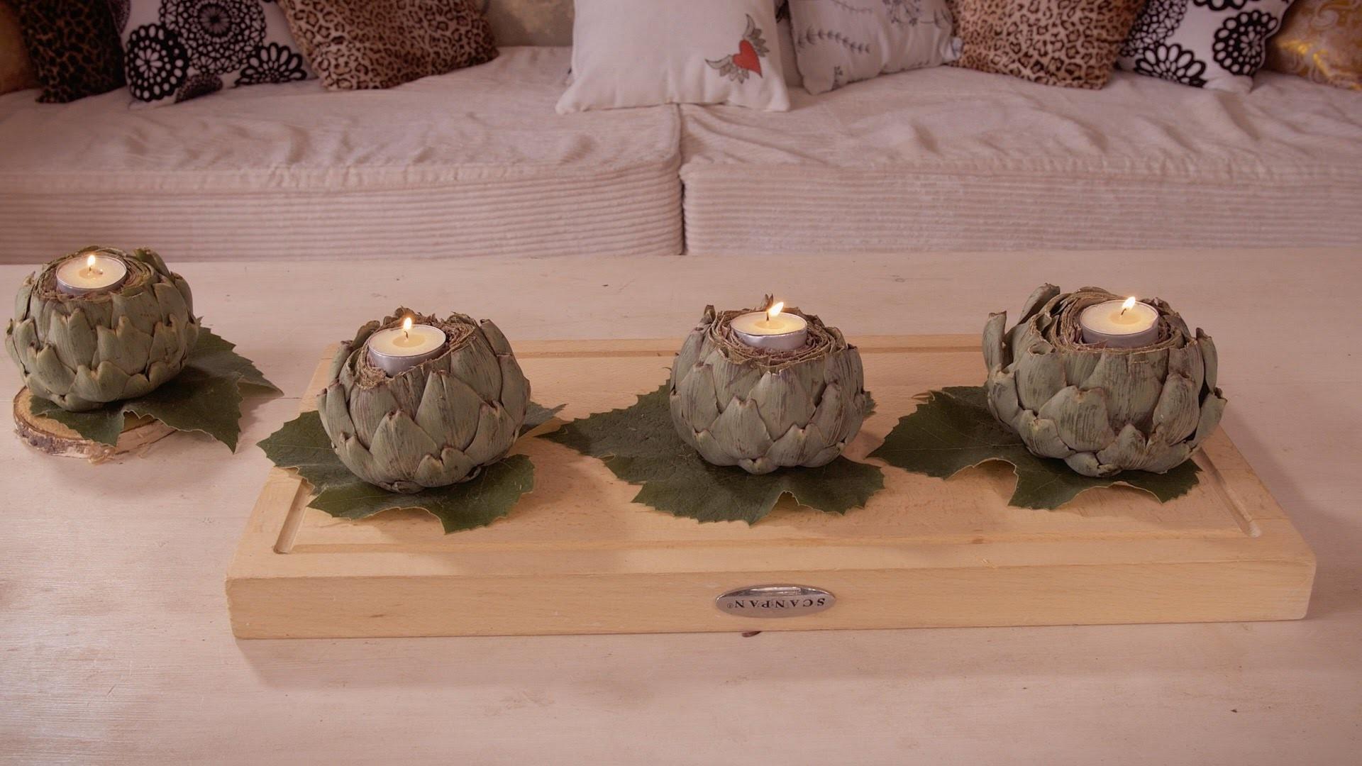 How to Make Artichoke Bulb Candle Holders