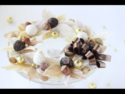 How to Make Chocolate Leaf Decorations