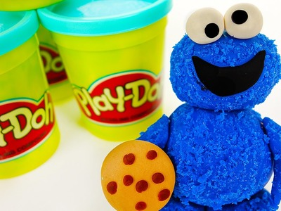 How to Make Cookie Monster with Play Doh Videos for Kids