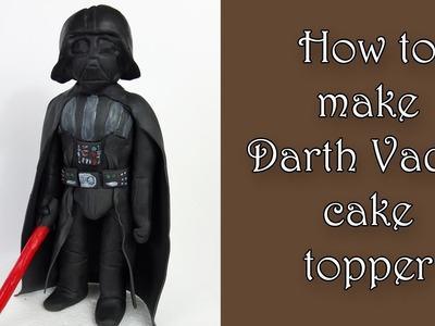 How to make Darth Vader cake topper. Jak zrobić figurkę Vadera z masy cukrowej