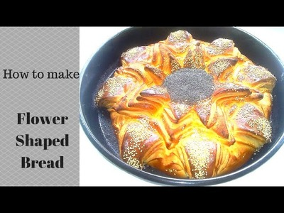 How to make flower shaped bread.Как сделать в форме цветка хлеб- Yummy Food Channel