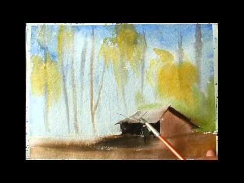 How to make landscape in watercolors by artist sikander singh chandigarh