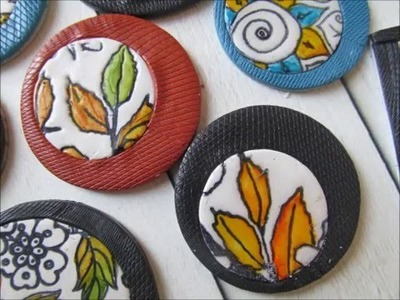 How to make pendant and brooche with polymer clay and fimo