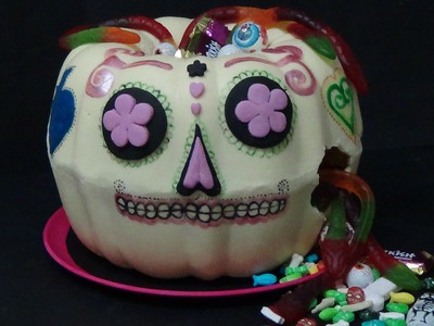 How to make pumpkin pinata and decorate in the style of mexico's day of the dead