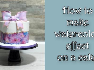 How to make watercolor effect on a cake. Jak zrobić efekt akwareli na torcie