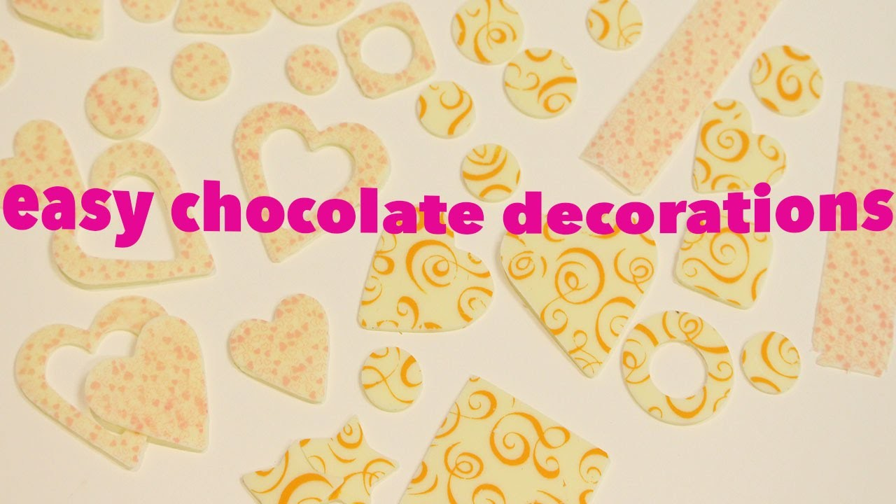 HOW TO USE CHOCOLATE TRANSFER SHEETS!
